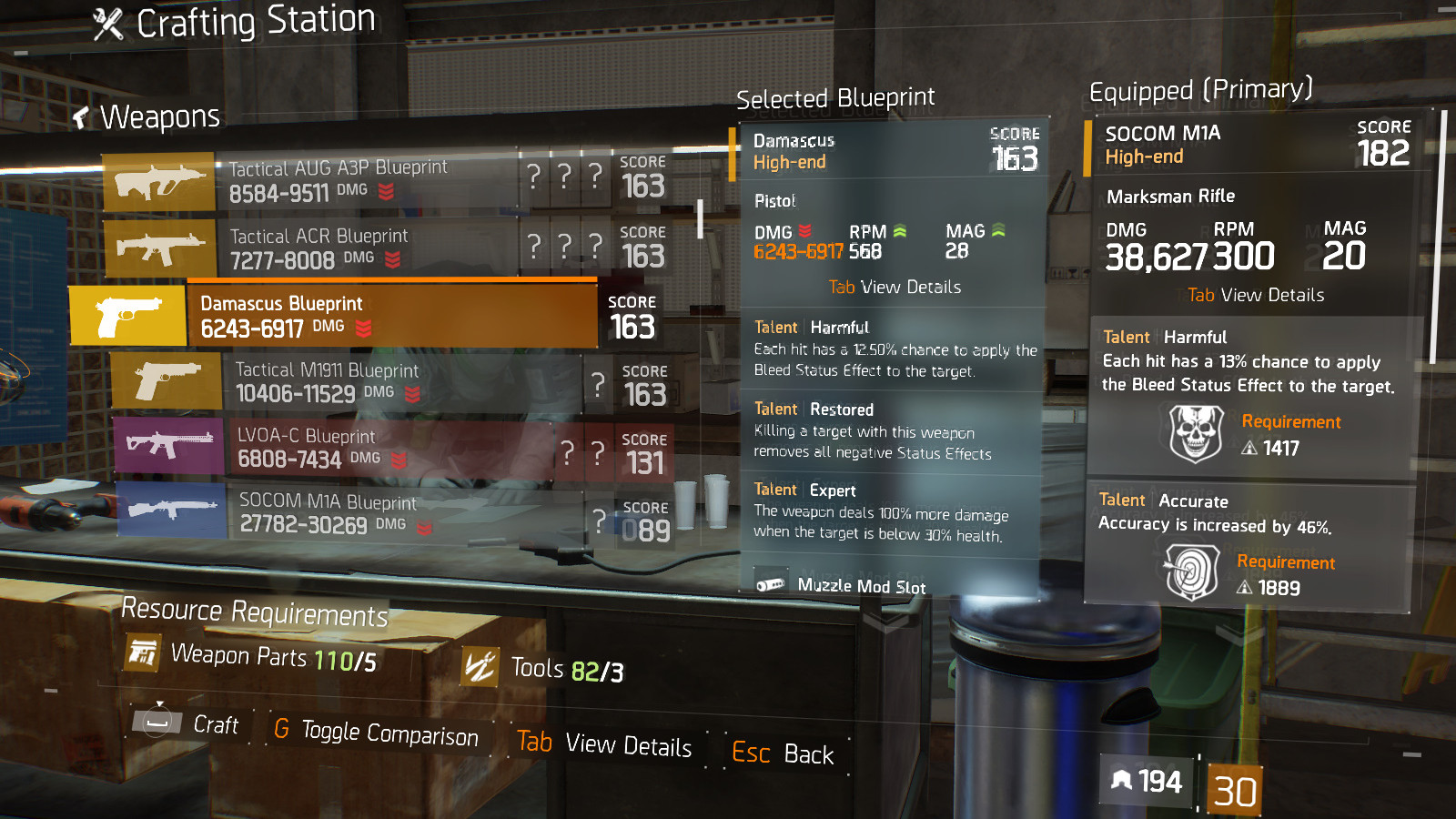 the division how to get green crafting materials