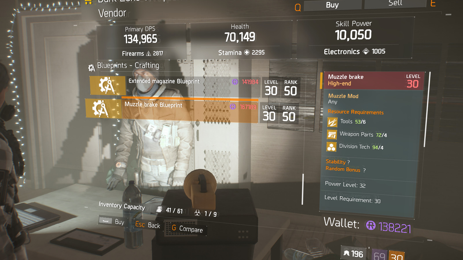 Muzzle Brake Blueprint Crafting Blueprint Item · The Division Field