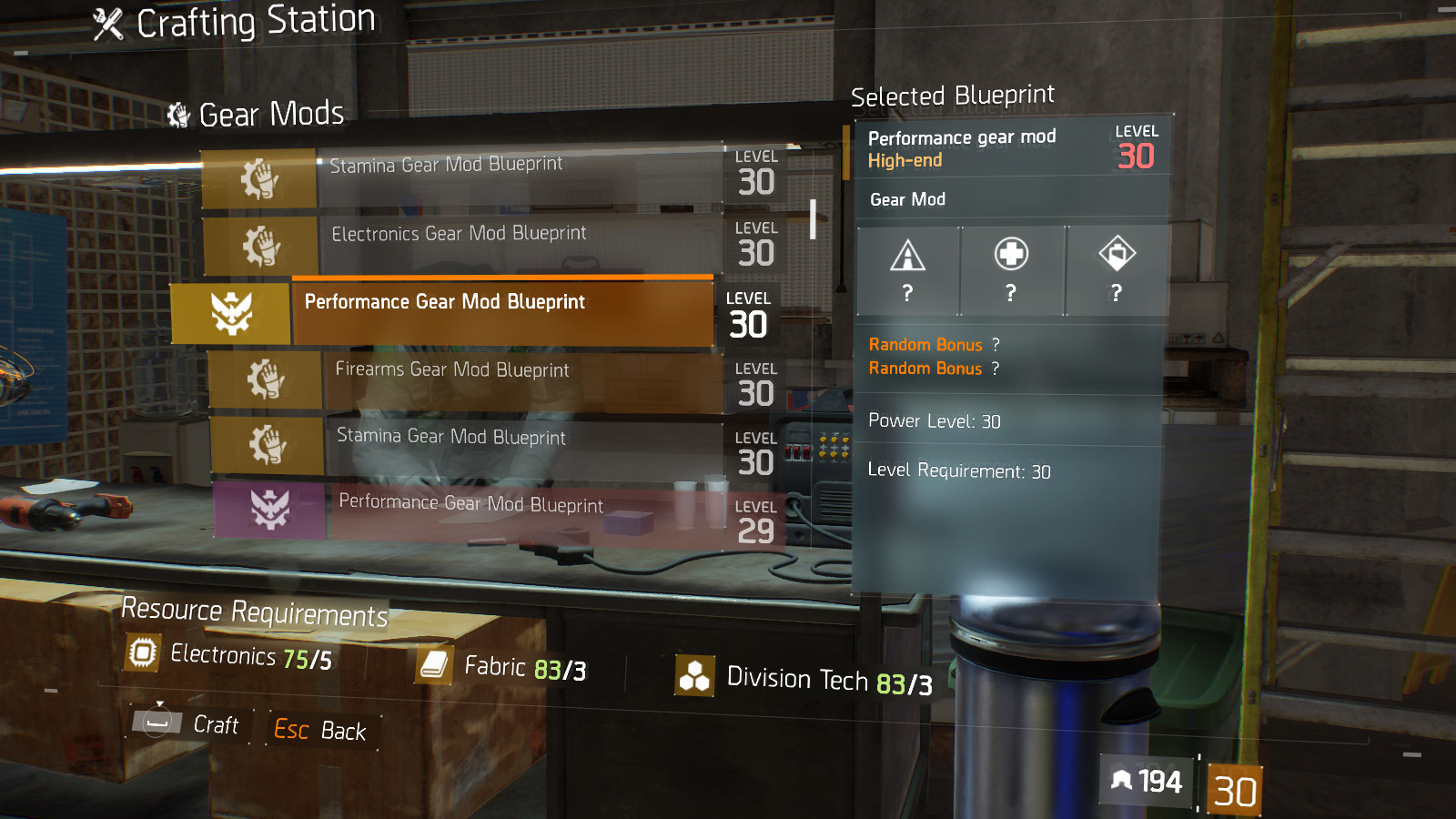 Guode To Crafting Mods Blueprints In The Division In