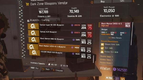 Black Market SASG-12 S Blueprint