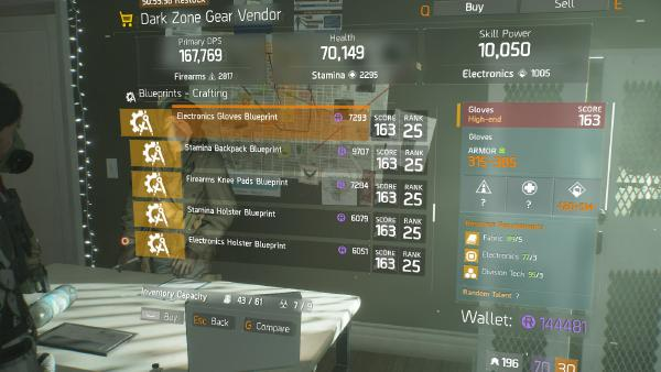 MP7 Blueprint Crafting Blueprint Item · The Division Field Guide