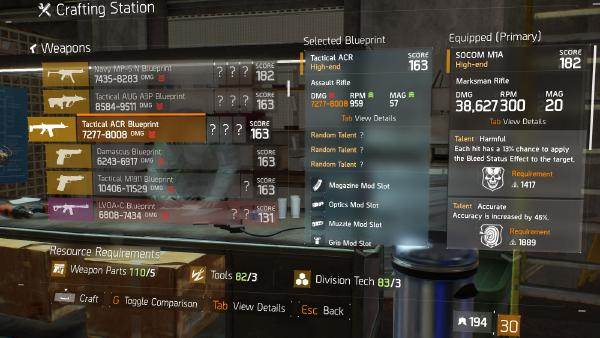Tactical ACR Blueprint